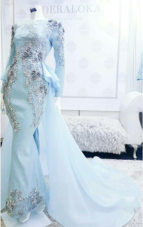 Baju Kahwin Baby Blue Wedding Idea In 2018 Dresses Baby Blue