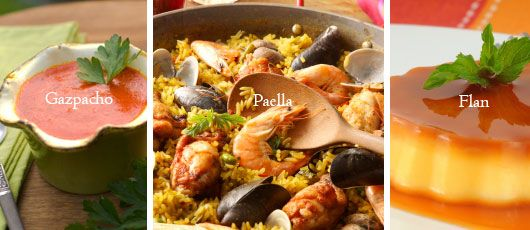 Delish espaa pinterest easy spanish recipes spanish food spains most famous dish is a yummy concoction of rice vegetables beans seafood and spices such as saffron this easy seafood paella recipe will allow forumfinder Image collections