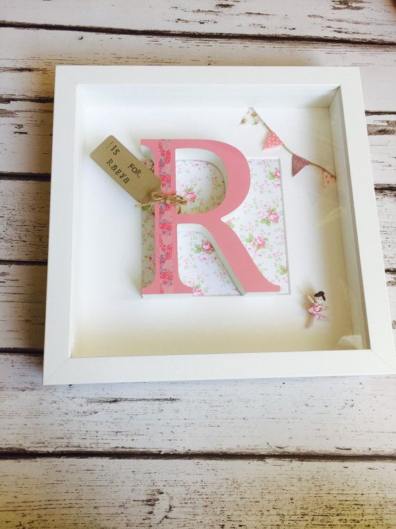 Baby Girl Name Meaning Name Origin White Box Frame with 3D Letter ...
