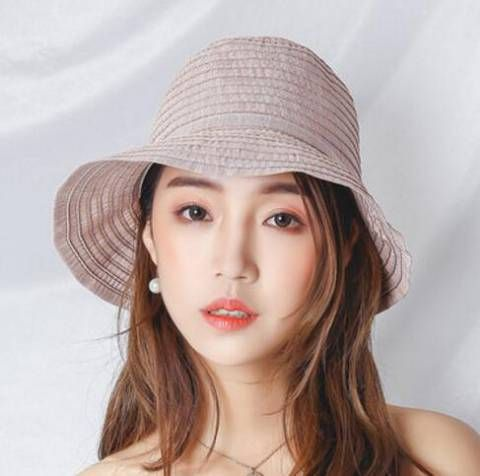 c3f907ee43c Plain pink sun protection hats for ladies cotton on wide brimmed hat ...