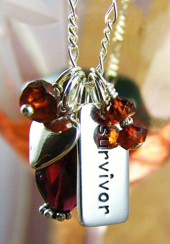 Gemstone Jewelry Chakra Survivor Necklace By Yogajewelryshop 36 00 Survivor Jewelry Survivor Necklace Heart Charm Bracelet