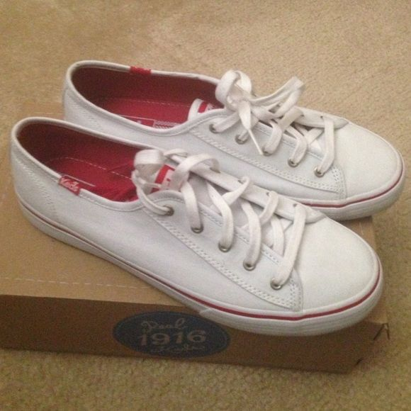 white double up keds