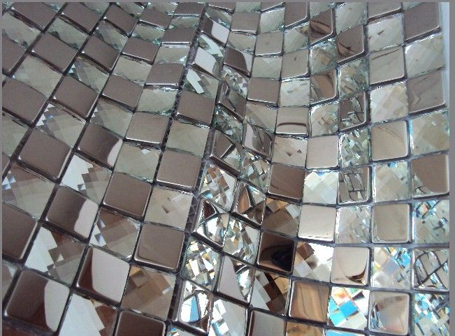 Silver Metal Mosaic Tiles Gl Mirror Tile Backsplash Mgmt040 Diamond Crystal 273 59