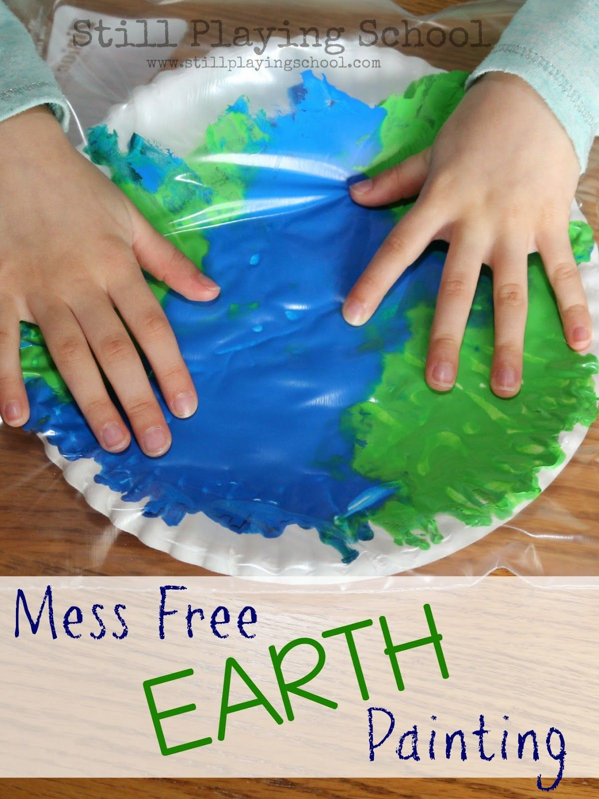 2a24e28f4 Still Playing School  No Mess Painting in a Bag Earth Craft
