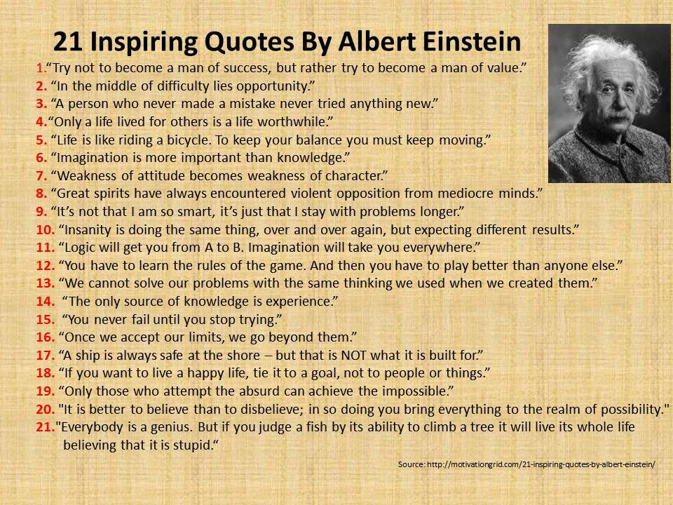 Einstein Quotes About Grammar Quotesgram Einstein Pinterest