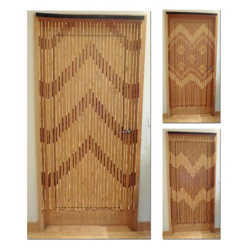 Bamboo bead door curtain - Wooden Bamboo Beaded Door Curtain Screen Room Divider Home Caravan