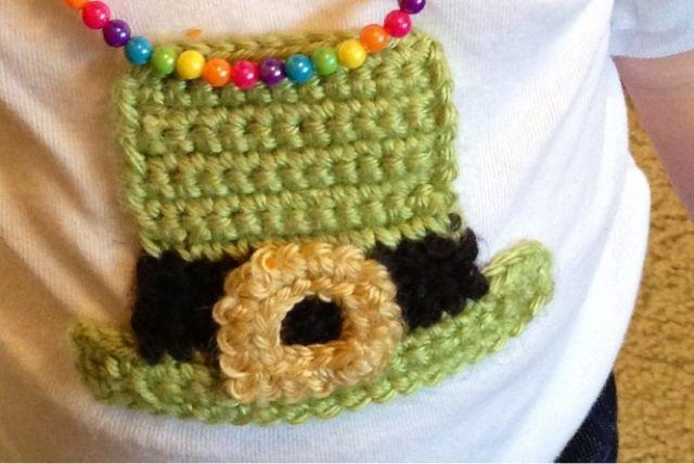 Free Amigurumi Leprechaun Pattern : Vet school widow: free leprechaun hat applique crochet pattern for