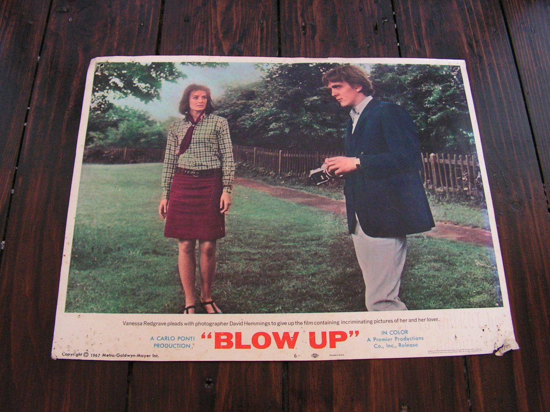 Rare Vintage 1967 Blow Up Film Movie Lobby Card US Vanessa Redgrave David Hemmings by VintageBlackCatz on Etsy