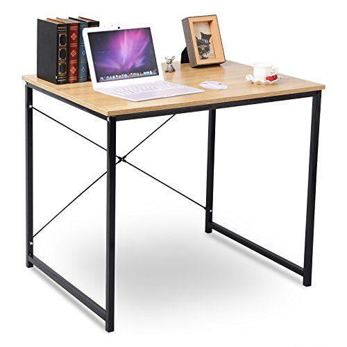 WOLTU Home Desk Modern Office Computer Desk Wooden Table Book Desk Sturdy  Simple Design Laptop Workstation