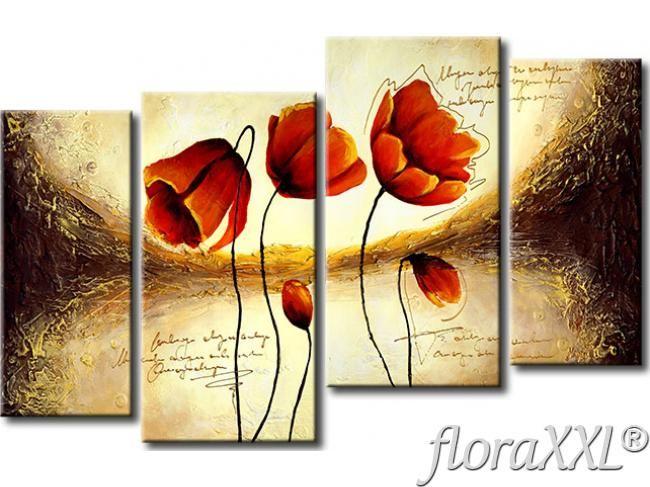 Wandbild elegante blumen mohnblumen bilder gestalten for Elegante wandbilder