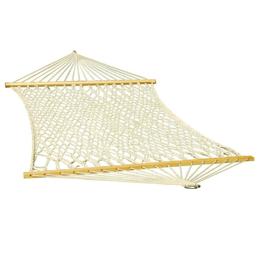 Algoma 11 Ft Cotton Rope Hammock 4901c The Home Depot In 2020 Rope Hammock Hammock Hammock Swing