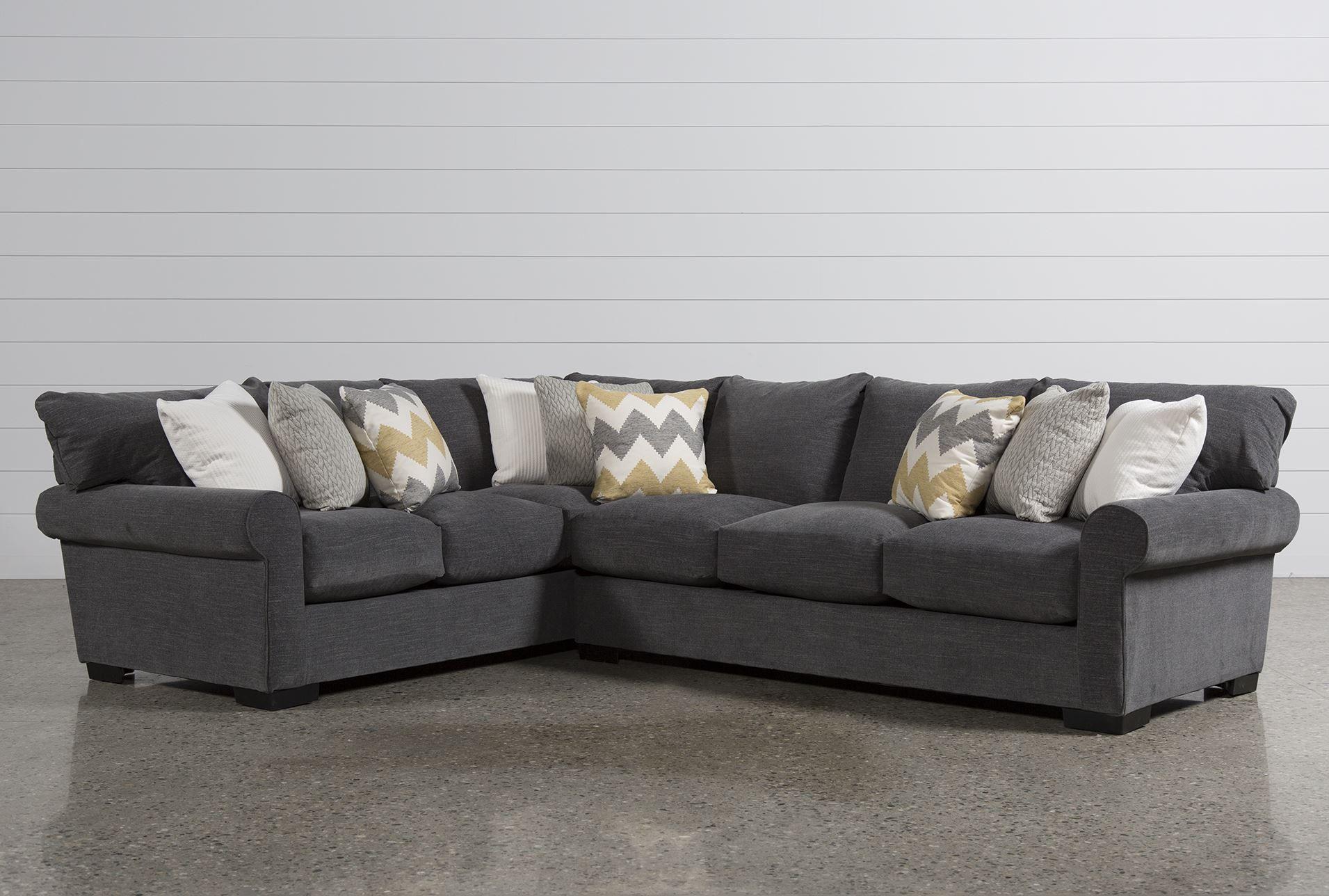 Aurora 2 Piece Sectional Grey Sofas Living Room Designs