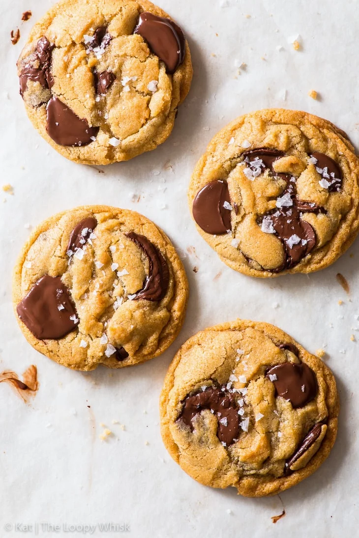 Vegan Chocolate Chip Cookies  Not only does this recipe give you the most amazing vegan chocolate chip cookies crispy round the edges gooey in the middle and delicious al...