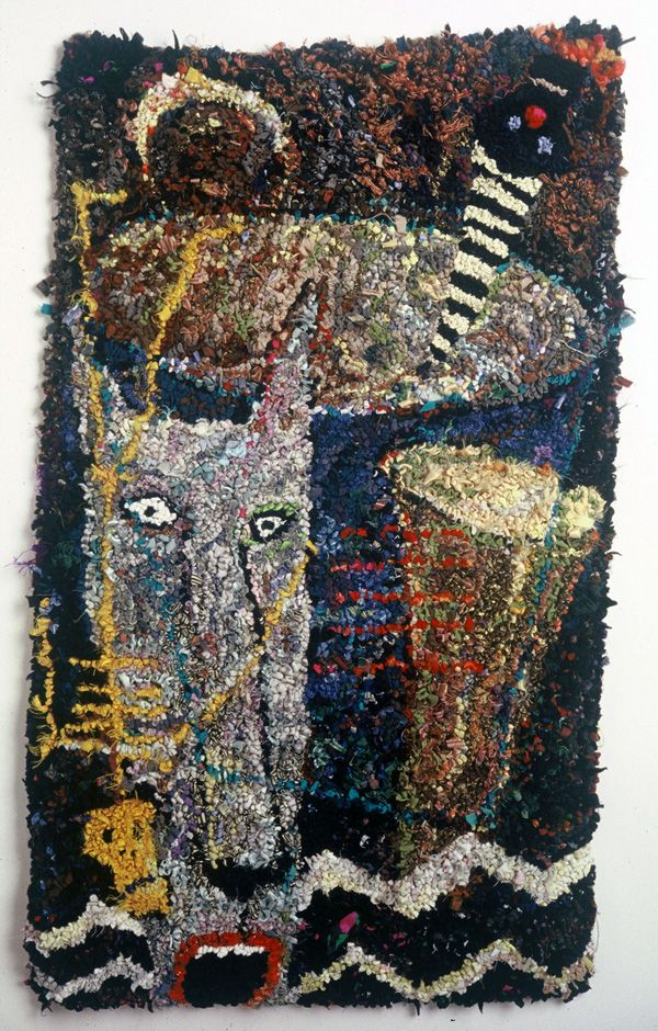 The Work Of Eclectic Artist Barbara Klunder Toronto Ontario Canada Includes Many Threads From Knitting To Designing Rug Hooking Paper Cuts