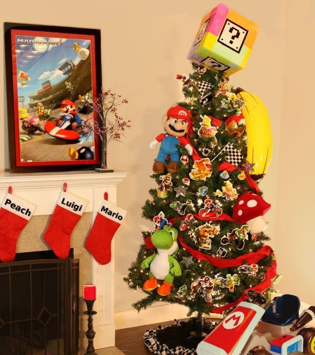 Christmas Mario Kart.6 Pop Culture Christmas Trees Christmas Ideas Christmas