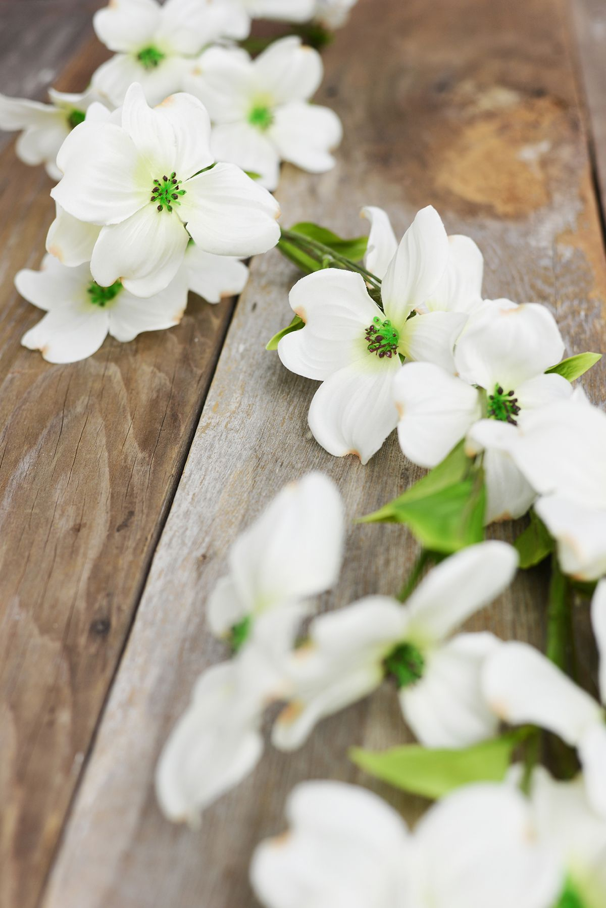 White Dogwood Flower 6 Foot Garland Decorating Ideas Pinterest