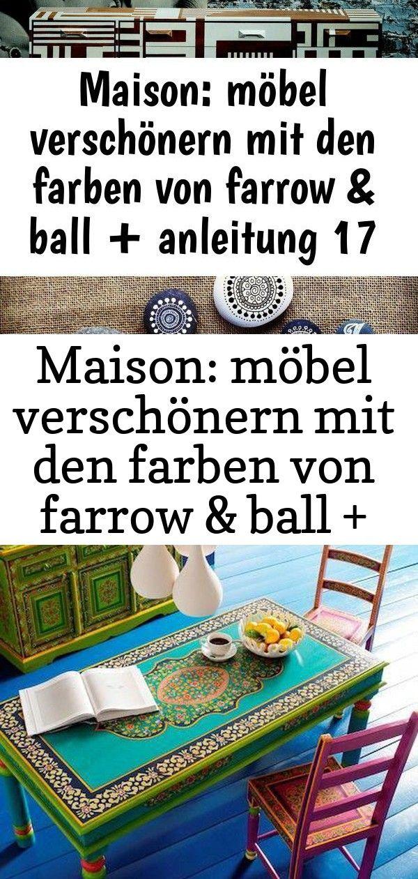 Maison: möbel verschönern mit den farben von farrow & ball + anleitung 17 4 #steinebemalenanleitung