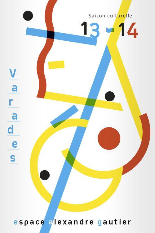 Affiche culturelle EAG empruntant à l'art abstrait