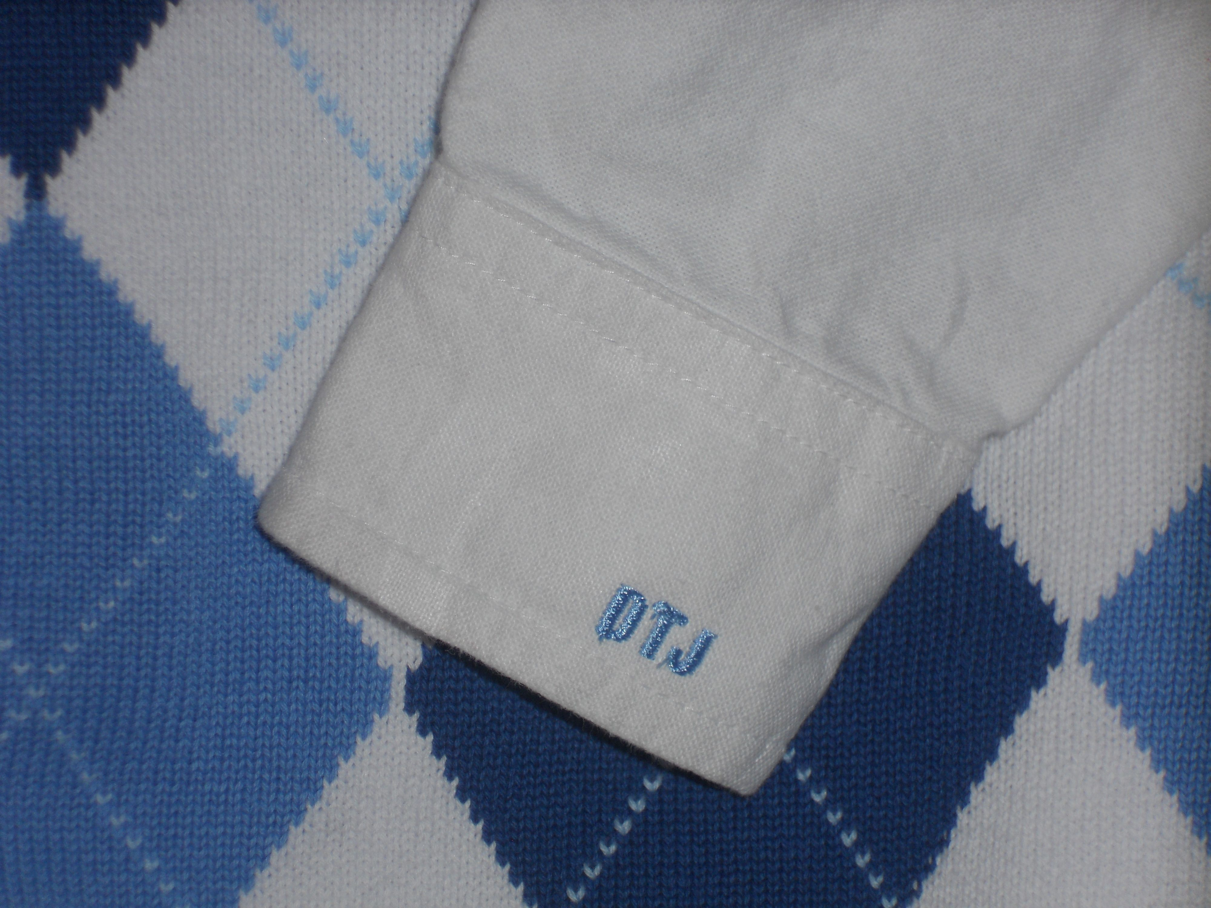 Little Boys Monogrammed Dress Shirt Cuff For Easter Monogramming