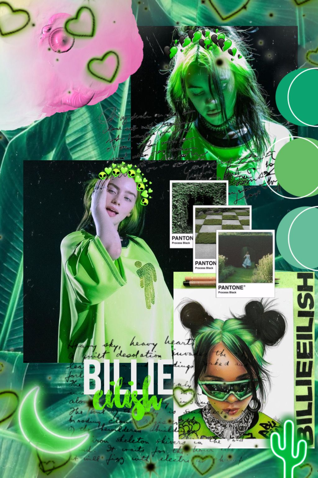 Billie Eilish Aesthetic Green Green Aesthetic Cute Emoji Wallpaper Billie