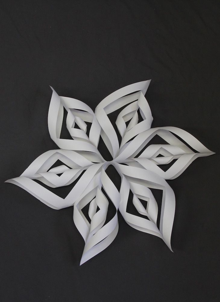 How to Make a 3D Snowflake photo