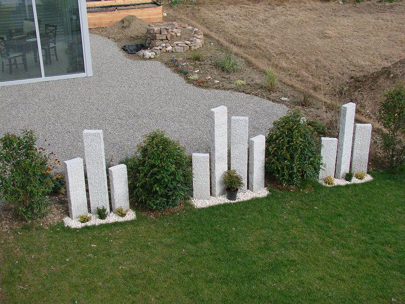 Sichtschutz - Granitstelen #vorgartenanlegen
