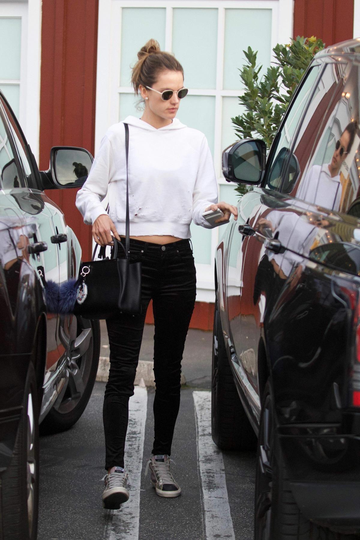 Alessandra Ambrosio wearing Fendi 2jours Petit Monster-Charm Shopping Tote  Bag 4763dbb5ff549