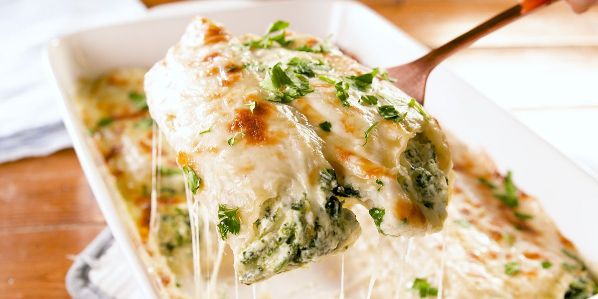 Spinach-Artichoke Manicotti Is The Best Baked Past