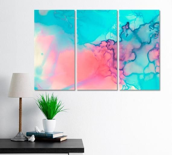 Pink Marble Wall Decor, Blue Abstract Art, Modern Marble Artwork, Abstract Frame Decor, Office Wall Decoration, Beautiful Art, Refined Art, #Abstract #Art #Artwork #beautiful #Blue #decor #Decoration #frame #Marble #Modern #office #Pink #refined #wall