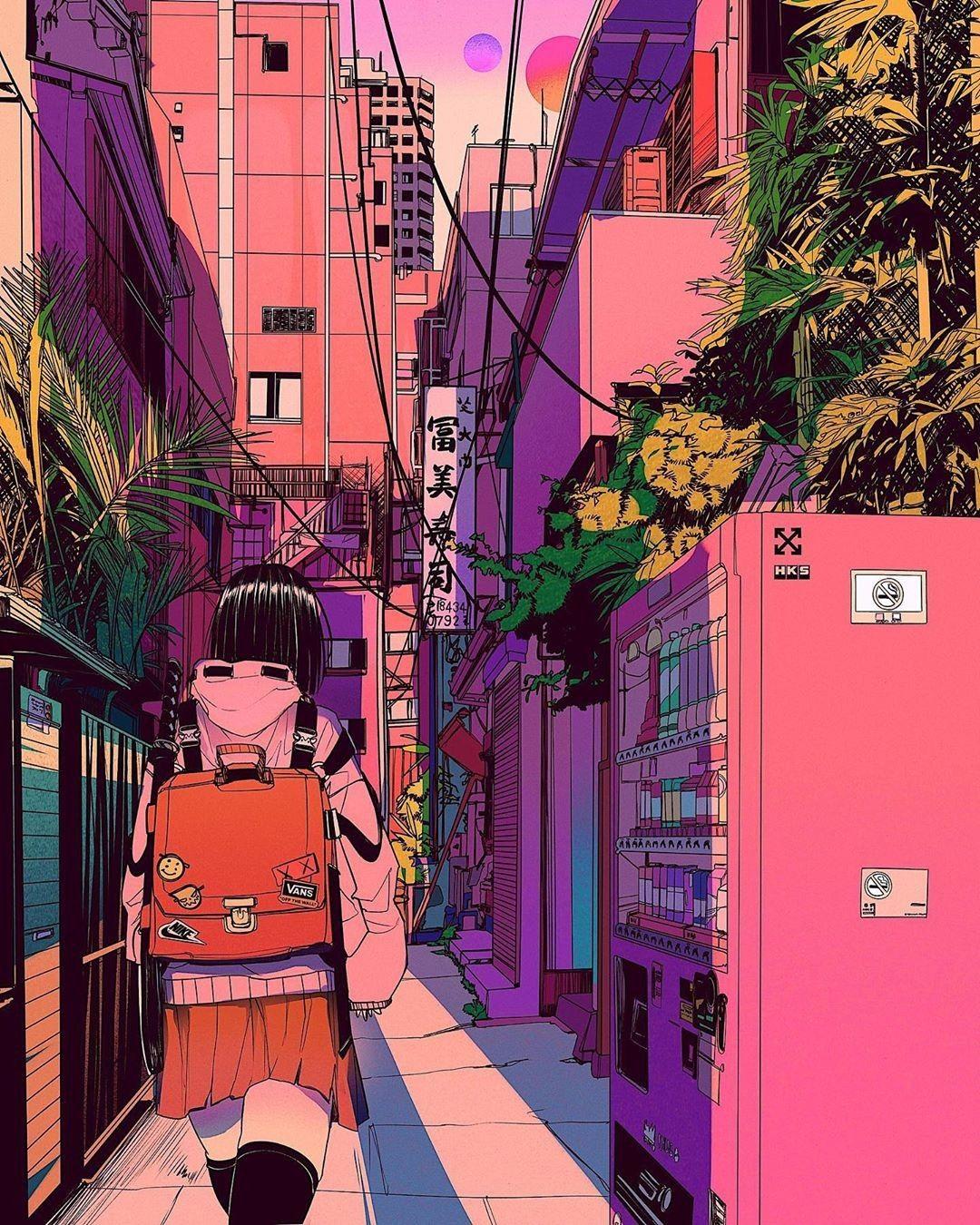 """Н'šð'ð'""""𝒉𝒊𝒌𝒐 Ɲ±äº¬ Vaporwave Art Anime Kawaii Art"""