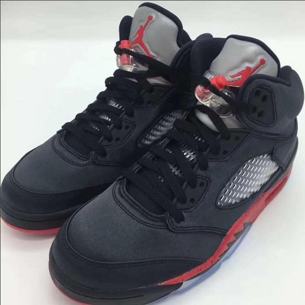1142d4542e785 Our First Look At The Upcoming Air Jordan 5 Satin Bred Back in April it was