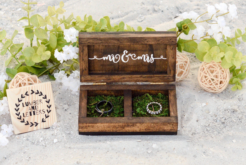 Boho Wedding Decor Wedding Ring Box Woodland Wedding Etsy Wedding Ring Box Ring Box Wedding Rustic Boho Wedding Ring