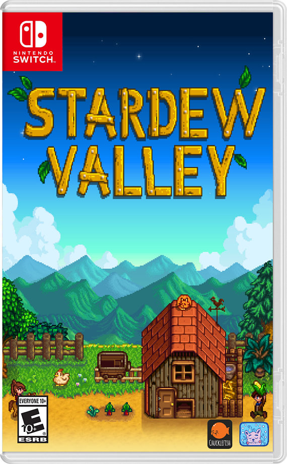 image about Printable Video Game Covers identify Stardew Valley: Video game Handles/Custom made Predicaments (Nintendo Change