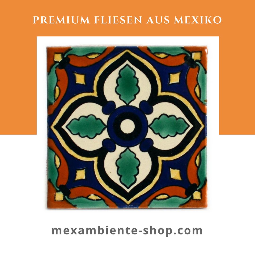 Handbemalte mexikanische Fliesen aus Keramik 11x11 #badezimmer ...