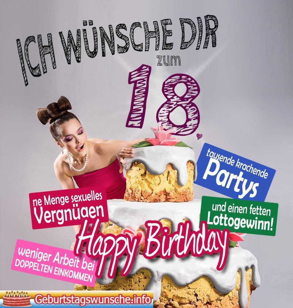 Geburtstagswunsche lustig frau 18