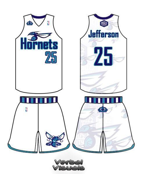 b0e9b7ee5c72 Concept CLT Hornets Jersey X Charlotte Hornets