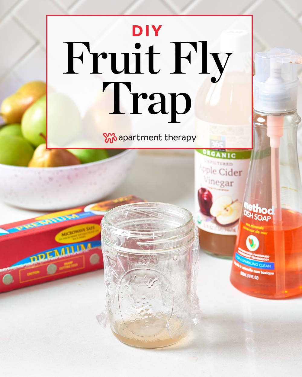 Get Rid of Fruitflies with a Homemade Fruit Fly Trap