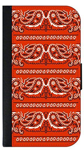 Bekijk alle stijlvolle iPhone hoesjes - #leather iphone case 6s | Red Bandana Stripes TM Leather-Look Apple iPhone 6+, 6s+ Wallet Case with Closing Flip Cover and Credit Card Slots Made in the U.S.A. (Not Compatible with the Standard iPhone 6, 6s) Jacks Outlet inc - http://lereniPhone5hoesjes.nl
