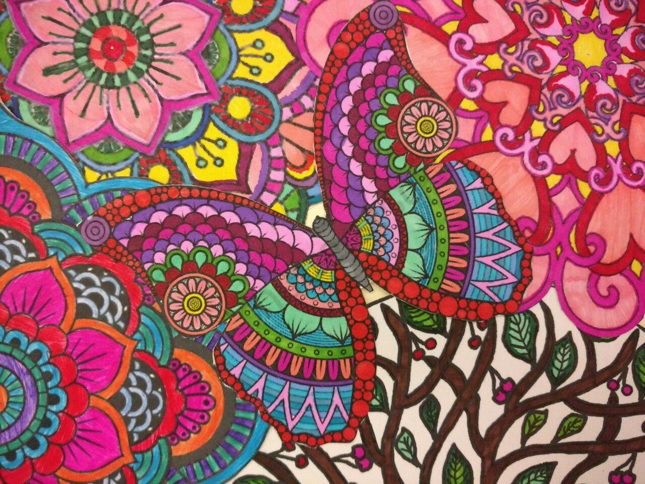 Mariposa mandala colores mandalas en 2019 mandalas - Mandalas en colores ...
