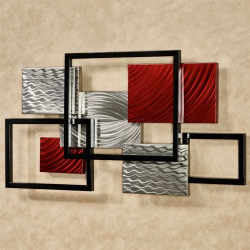framed array indoor outdoor abstract metal wall sculpture on metal wall art id=88892