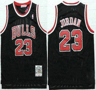 rhpahm Chicago Bulls Jersey 23 Michael Jordan 1997-98 Black Hardwood