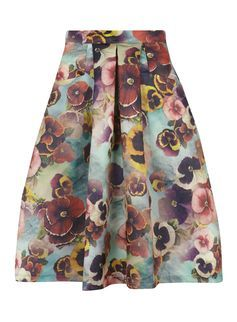 85b08da065 Jolie Moi Green Floral A-line Skirt   SUMMER WARDROBE   Floral print ...