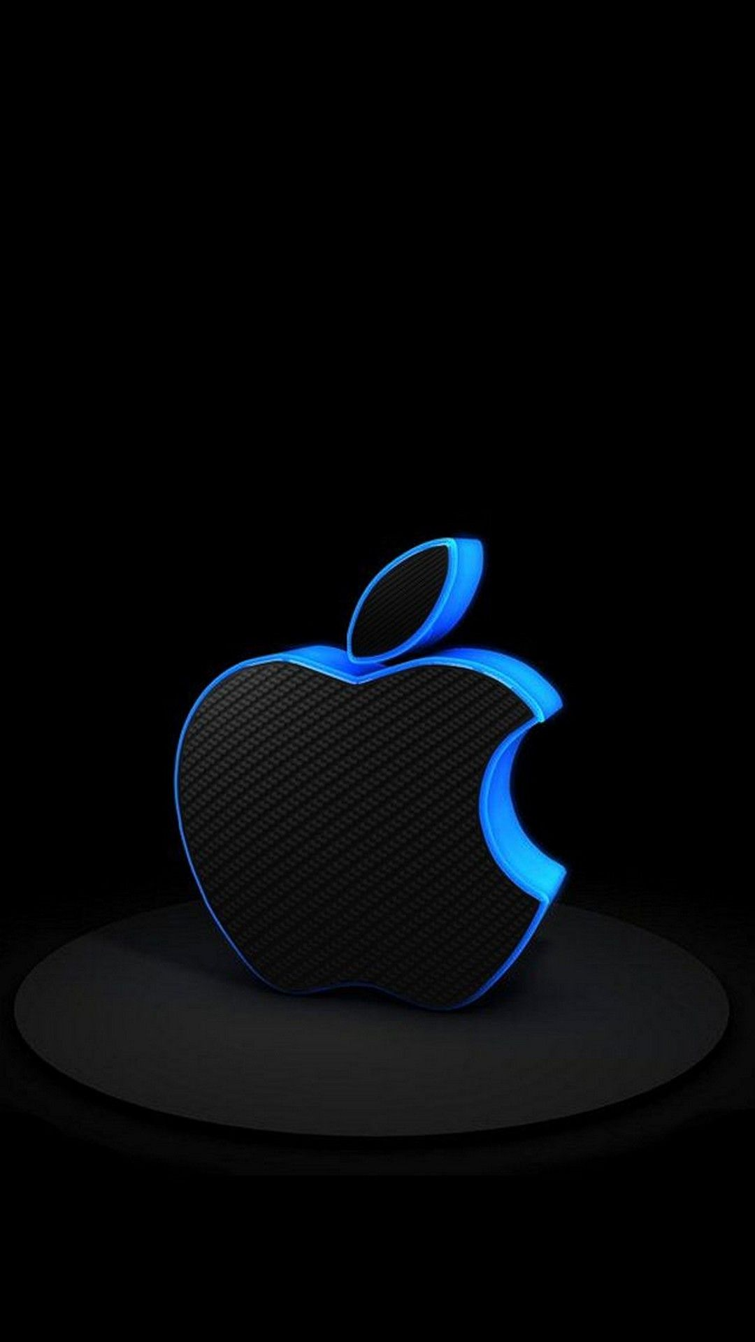 3D iPhone Logo Wallpaper Blue - Best iPhone Wallpaper