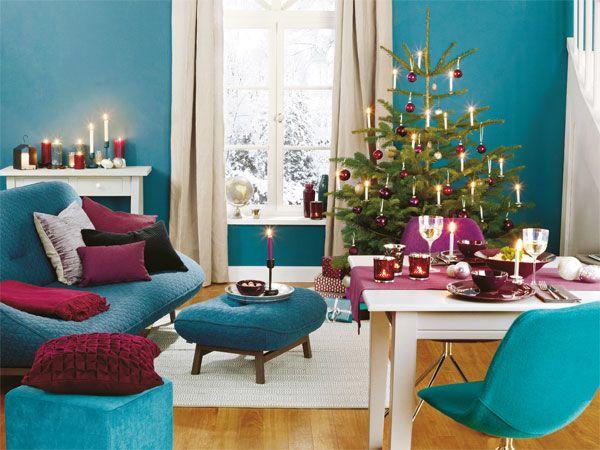 Wie wird eure Esszimmer für Weihnachtsessen dekoriert? Habt ihr - wohnzimmer deko petrol