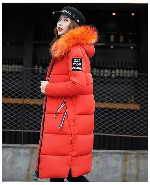 c86da74e6d6 Toneway Clothing Winter Women's Down Parkas Winter Jacket Big Fur ...