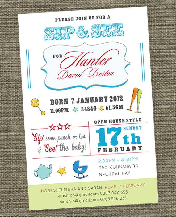 come meet the baby invitations wording