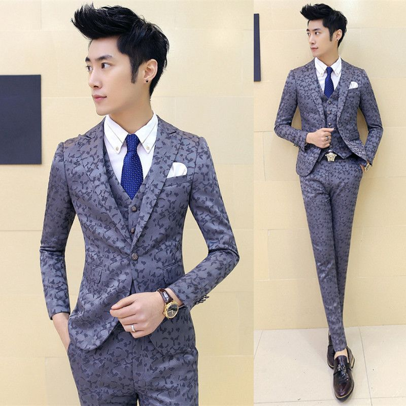 Mens High Quality Slim Suits New Brand Male Formal Wear Wedding