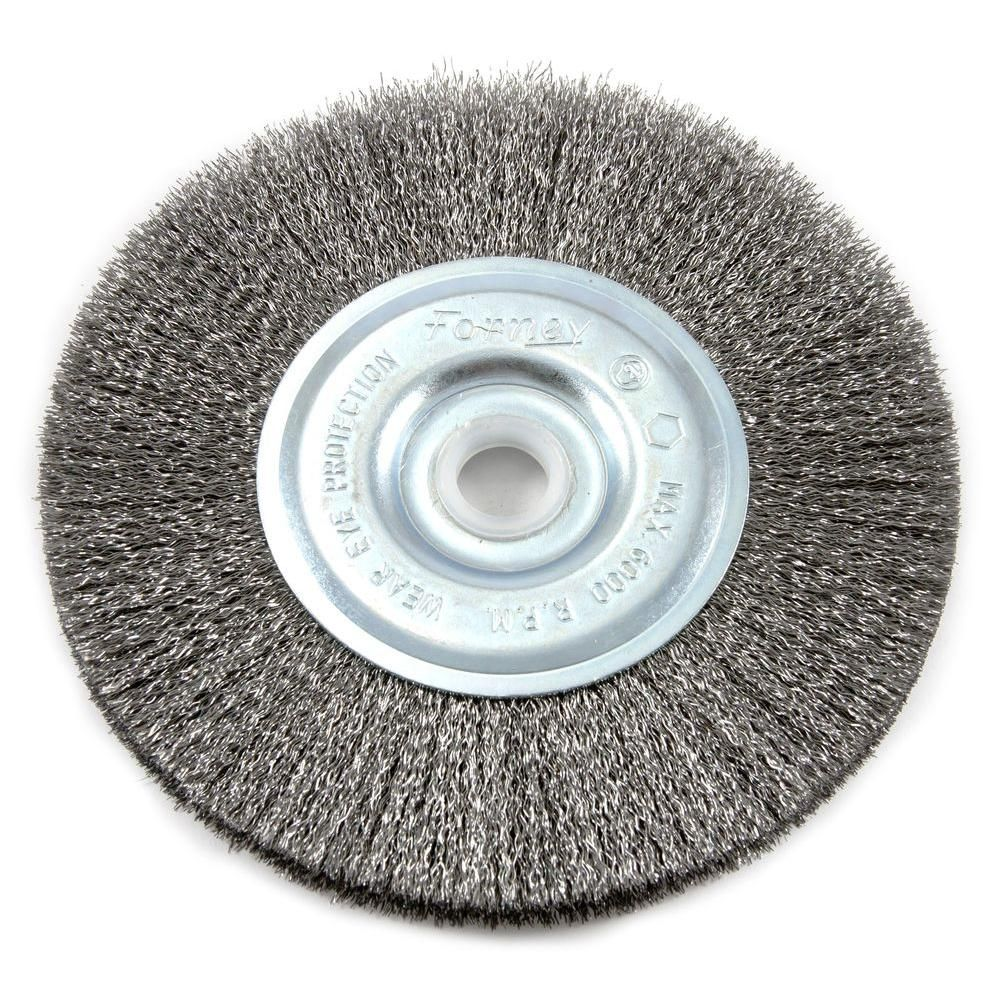 Forney 5 In X 1 2 In And 5 8 In Arbor Fine Crimped Wire Wheel Brush 72743 Wire Wheel Forney How To Clean Metal
