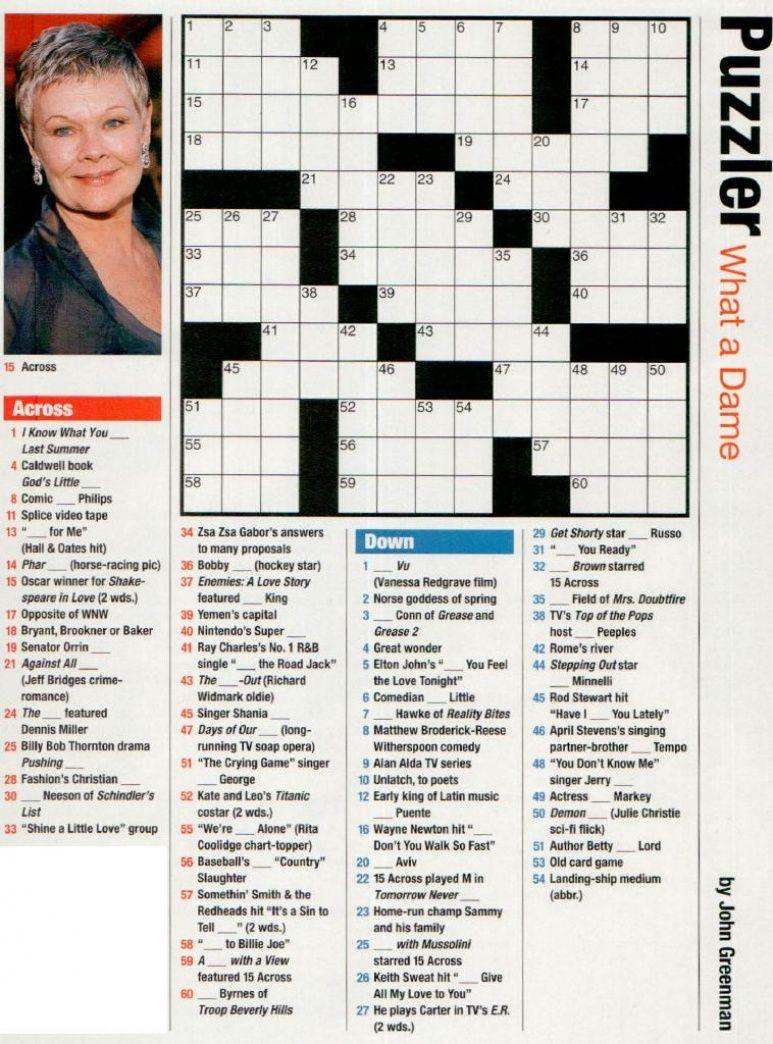 Printable People Magazine Crossword Puzzles Printable Crossword Puzzles Printable Crossword Puzzles Crossword Puzzles People Magazine