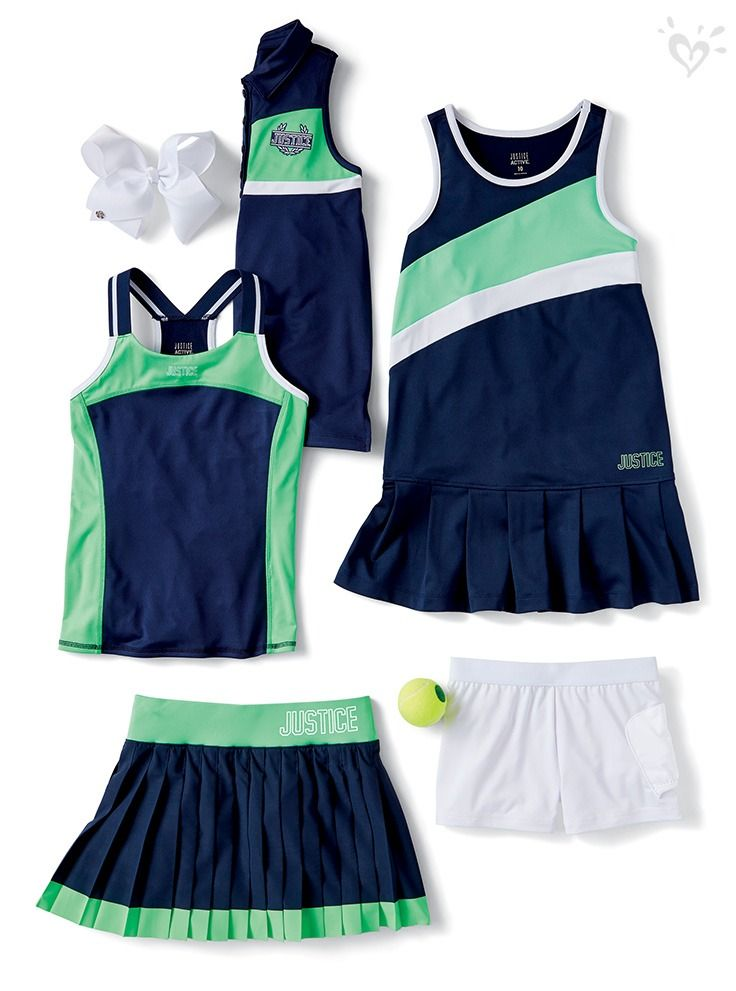 Introducing The Tennis Golf Collection Featuring Performance Ready Tanks Skorts And Dresses Justice Clothing Outfits Girls Fashion Clothes Justice Clothing